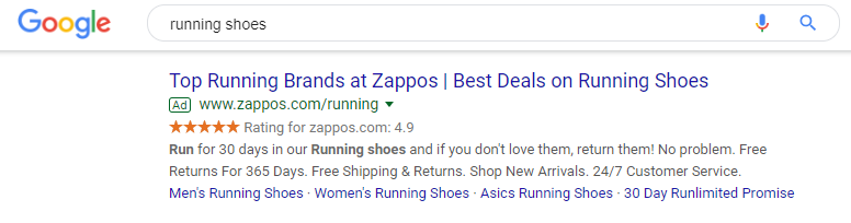 Best Google Ads Examples Zappos