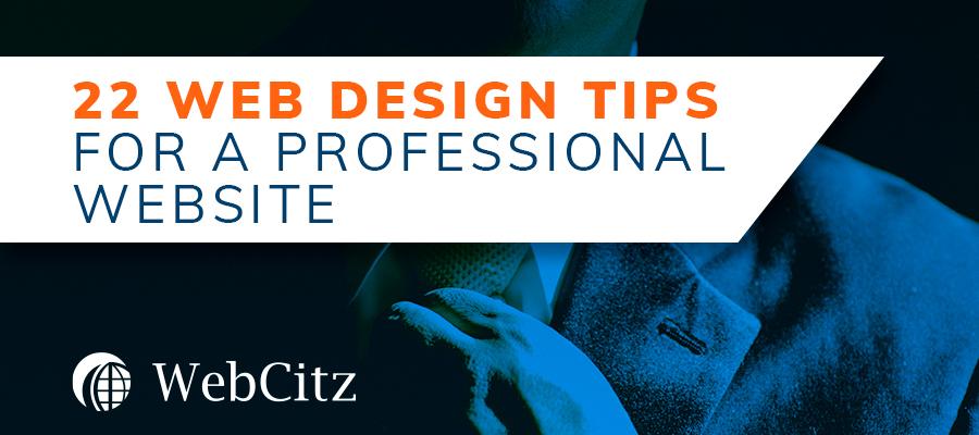 22 Web Design Tips for a Professional Website Image