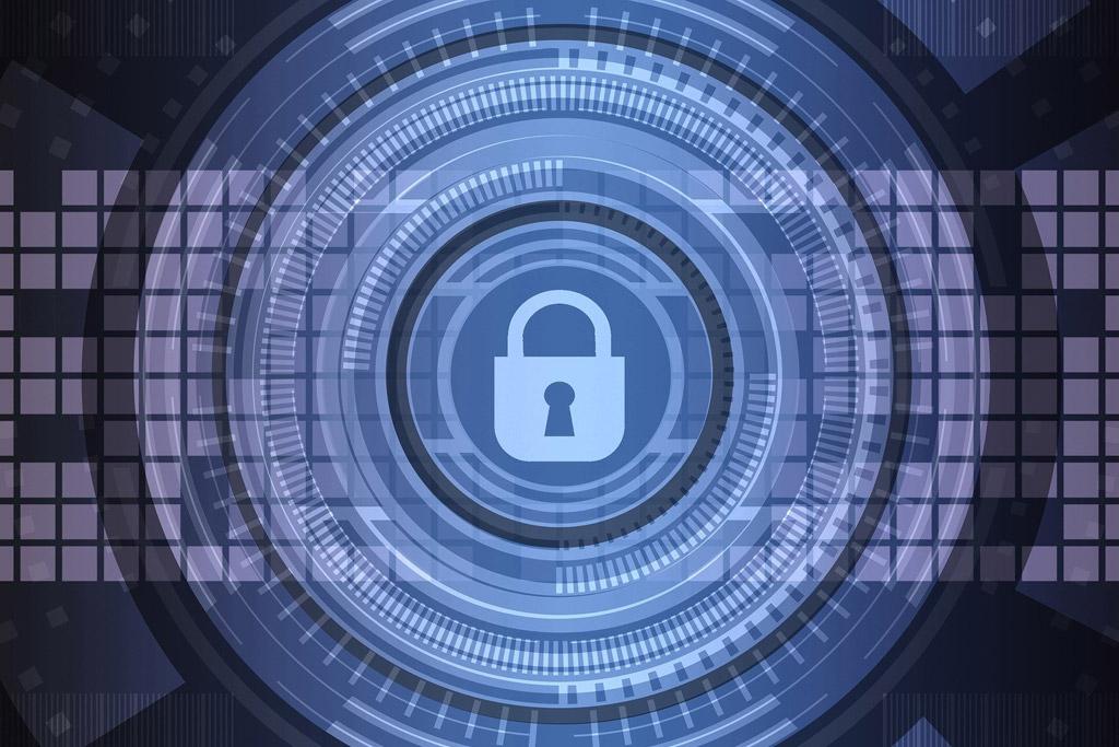 Security lock graphic